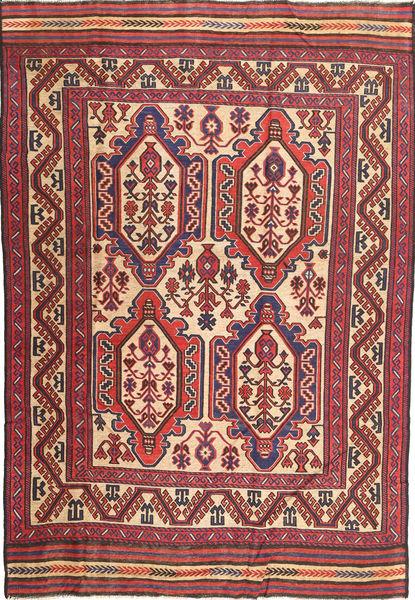 Kilim Golbarjasta Rug 193X281 Authentic  Oriental Handwoven Dark Red/Dark Brown (Wool, Afghanistan)