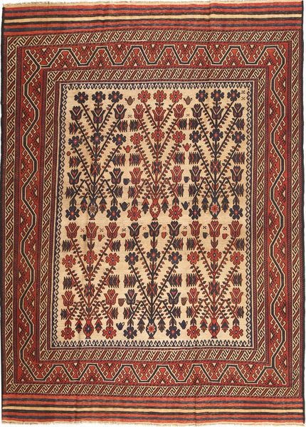 Kilim Golbarjasta Rug 212X285 Authentic  Oriental Handwoven Dark Brown/Dark Red (Wool, Afghanistan)
