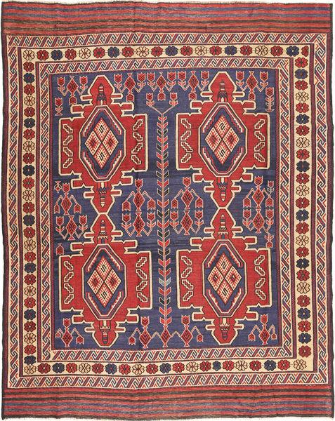Kelim Golbarjasta Matto 209X273 Itämainen Käsinkudottu Tummanpunainen/Violetti (Villa, Afganistan)