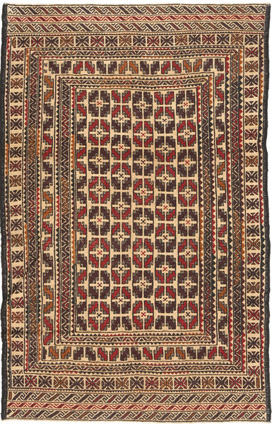 Kilim Golbarjasta Rug 123X193 Authentic  Oriental Handwoven Light Brown/Dark Beige (Wool, Afghanistan)
