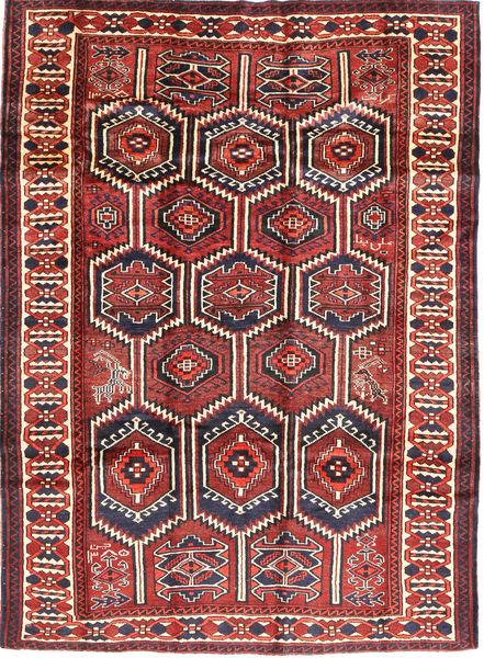 Lori Rug 183X248 Authentic  Oriental Handknotted Dark Red/Brown (Wool, Persia/Iran)