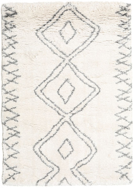 Berber Shaggy Massin Rug 140X200 Modern Beige/White/Creme ( Turkey)