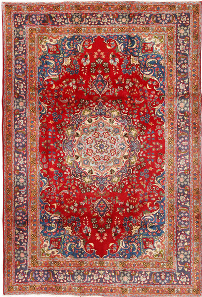 Mashad Rug 196X290 Authentic  Oriental Handknotted Rust Red/Brown (Wool, Persia/Iran)