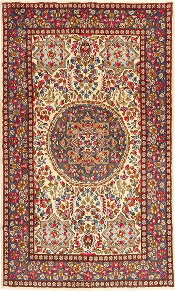 ケルマン 絨毯 149X247 オリエンタル 手織り ベージュ/錆色 (ウール, ペルシャ/イラン)