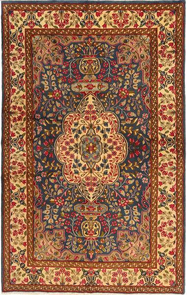 ケルマン 絨毯 147X233 オリエンタル 手織り 濃い茶色/薄茶色 (ウール, ペルシャ/イラン)