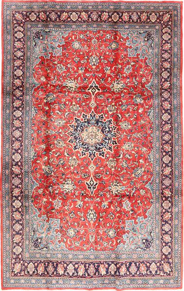Sarough Matta 221X342 Äkta Orientalisk Handknuten Ljusrosa/Ljusgrå (Ull, Persien/Iran)