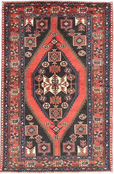 Nahavand Teppe 133X210 Ekte Orientalsk Håndknyttet Mørk Grå/Orange (Ull, Persia/Iran)