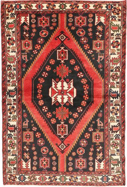 Bakhtiar Teppe 147X220 Ekte Orientalsk Håndknyttet Svart/Mørk Rød (Ull, Persia/Iran)
