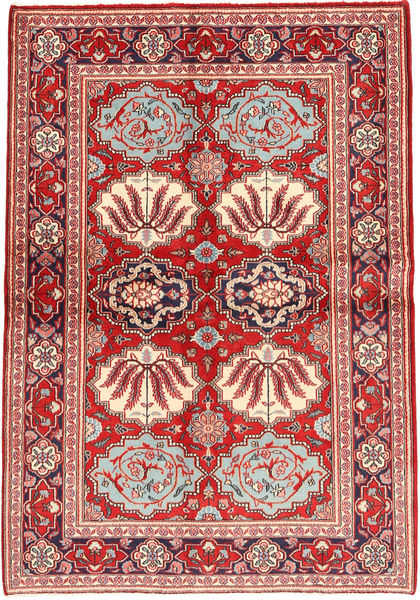 Keshan Rug 133X197 Authentic  Oriental Handknotted Dark Red/Rust Red (Wool, Persia/Iran)