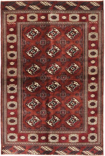Turkaman Matto 143X220 Itämainen Käsinsolmittu Tummanpunainen/Ruskea (Villa, Persia/Iran)