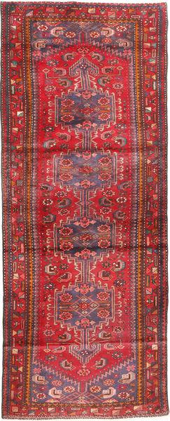 Hamadan Dywan 113X310 Orientalny Tkany Ręcznie Chodnik Ciemnoczerwony/Brązowy (Wełna, Persja/Iran)
