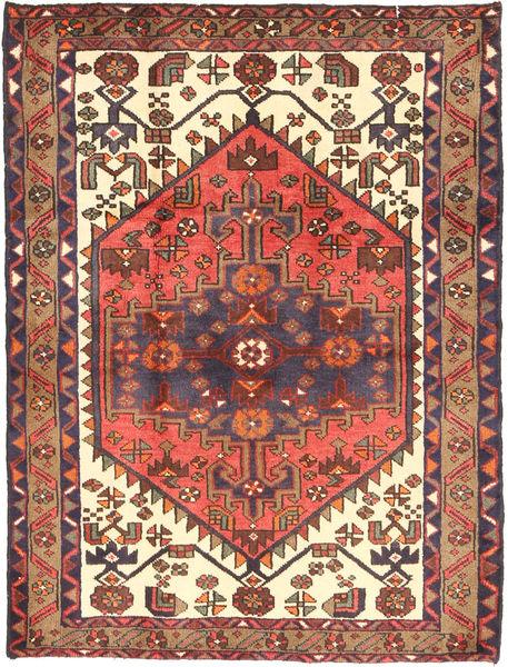 Saveh Matto 114X148 Itämainen Käsinsolmittu Ruskea/Tummanvioletti (Villa, Persia/Iran)