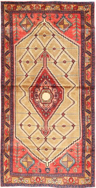 Hamadan Matto 118X237 Itämainen Käsinsolmittu Ruskea/Vaaleanruskea (Villa, Persia/Iran)