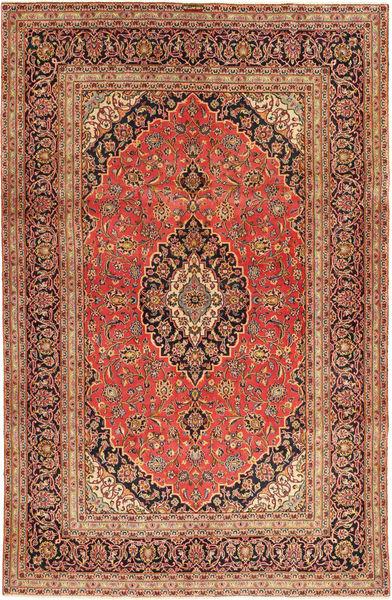 Keshan Rug 194X300 Authentic  Oriental Handknotted Rust Red/Light Brown (Wool, Persia/Iran)