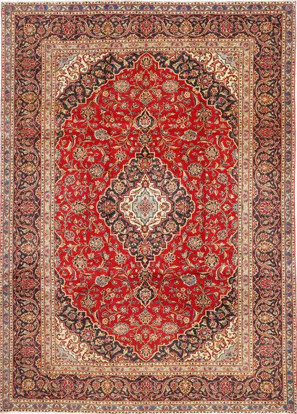 Keshan Matto 252X345 Itämainen Käsinsolmittu Ruoste/Tummanpunainen Isot (Villa, Persia/Iran)
