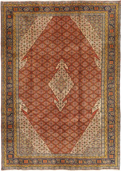 Ardebil Rug 202X290 Authentic  Oriental Handknotted Light Brown/Crimson Red (Wool, Persia/Iran)