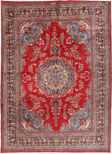 Mashad Rug 245X350 Authentic  Oriental Handknotted Dark Red/Crimson Red (Wool, Persia/Iran)
