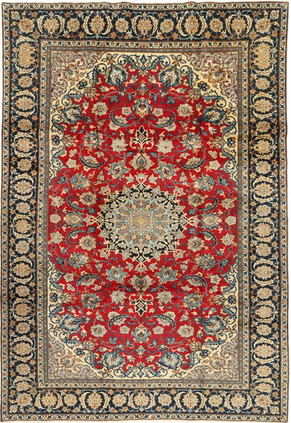 Najafabad Rug 223X332 Authentic  Oriental Handknotted Dark Grey/Light Brown (Wool, Persia/Iran)