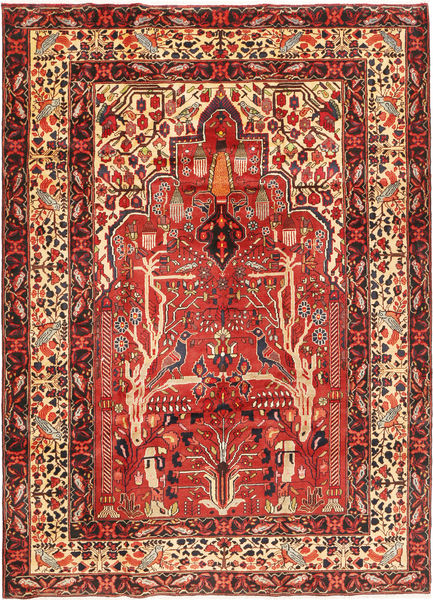 Hamadan Tapis 210X295 D'orient Fait Main Rouille/Rouge/Rouge Foncé (Laine, Perse/Iran)