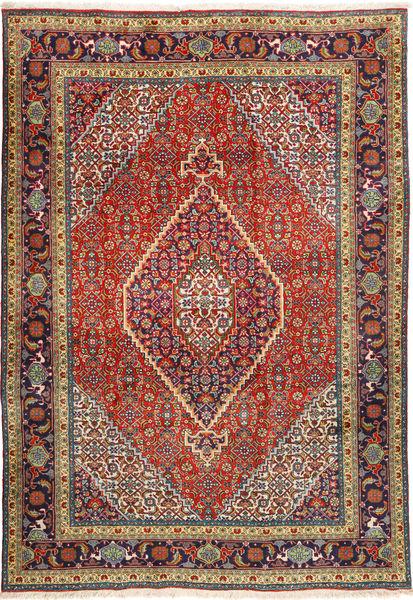 Tabriz Rug 207X298 Authentic  Oriental Handknotted Dark Red/Dark Grey (Wool, Persia/Iran)