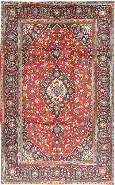 Keshan Rug 188X301 Authentic  Oriental Handknotted Dark Red/Rust Red (Wool, Persia/Iran)