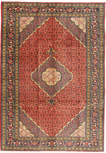 Ardabil Alfombra 204X285 Oriental Hecha A Mano Marrón Claro/Marrón (Lana, Persia/Irán)