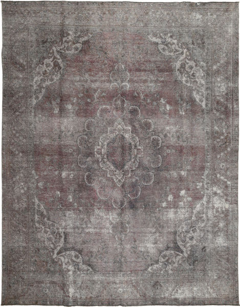 Colored Vintage Rug 290X376 Authentic  Modern Handknotted Light Grey/Dark Grey Large (Wool, Pakistan)