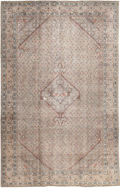 Colored Vintage Rug 191X298 Authentic  Modern Handknotted Light Grey/Light Brown (Wool, Pakistan)