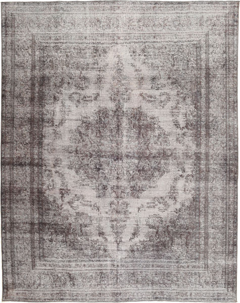 Colored Vintage Rug 288X376 Authentic  Modern Handknotted Light Grey/Dark Grey Large (Wool, Pakistan)