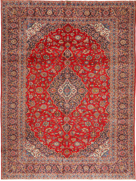 Keshan Rug 295X390 Authentic  Oriental Handknotted Brown/Rust Red Large (Wool, Persia/Iran)
