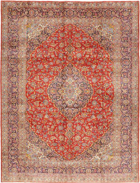 Keshan Allekirjoitettu : Kashan Rezazadeh Matto 300X393 Itämainen Käsinsolmittu Ruoste/Vaaleanruskea Isot (Villa, Persia/Iran)