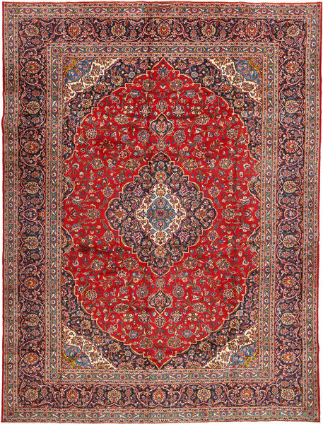 Keshan Signature : Kashan Feyzi Rug 300X400 Authentic  Oriental Handknotted Brown/Rust Red Large (Wool, Persia/Iran)