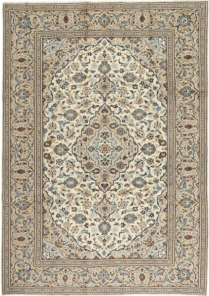Keshan Matto 240X342 Itämainen Käsinsolmittu Vaaleanharmaa/Tummanharmaa (Villa, Persia/Iran)