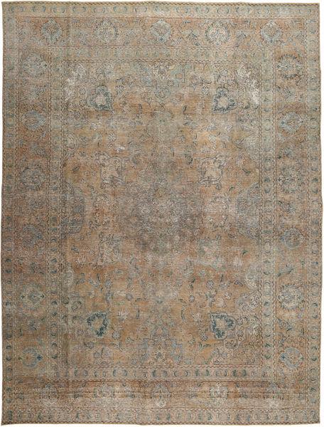 Colored Vintage Teppe 281X376 Ekte Moderne Håndknyttet Lysbrun/Mørk Grå Stort (Ull, Pakistan)