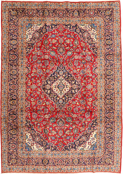 Keshan Rug 250X355 Authentic  Oriental Handknotted Brown/Light Brown Large (Wool, Persia/Iran)