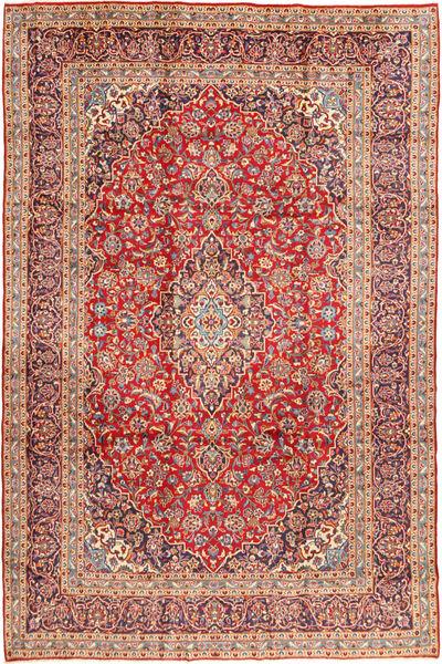 Keshan Teppe 250X378 Ekte Orientalsk Håndknyttet Rust/Lysbrun Stort (Ull, Persia/Iran)