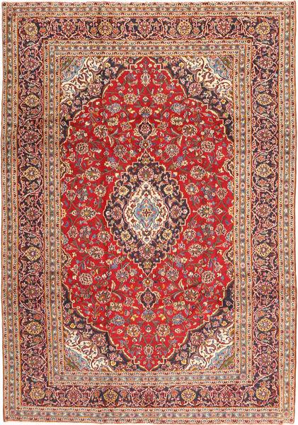 Keshan Matta 246X350 Äkta Orientalisk Handknuten Brun/Ljusbrun (Ull, Persien/Iran)