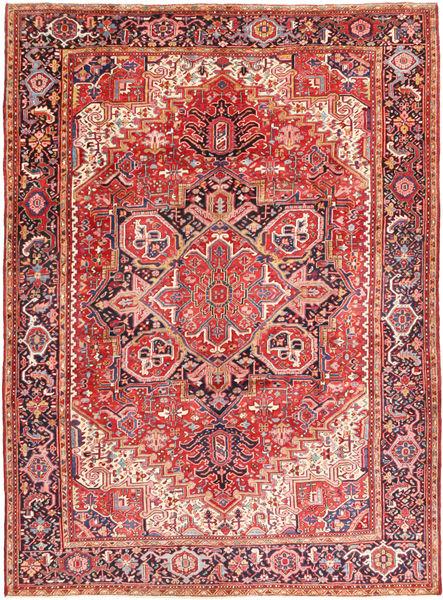 Heriz Tapis 260X354 D'orient Fait Main Rouille/Rouge/Violet Foncé Grand (Laine, Perse/Iran)