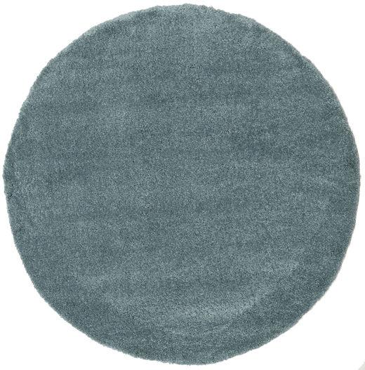 Shaggy Sadeh - Teal Rug Ø 200 Modern Round Blue/Dark Turquoise   ( Turkey)
