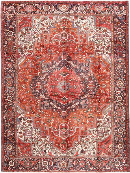 Heriz Matto 340X440 Itämainen Käsinsolmittu Ruoste/Vaaleanruskea Isot (Villa, Persia/Iran)