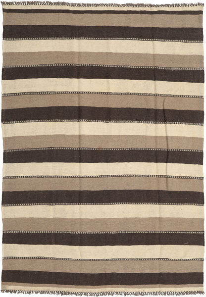 Kilim Rug 185X267 Authentic  Oriental Handwoven Light Brown/Dark Brown (Wool, Persia/Iran)