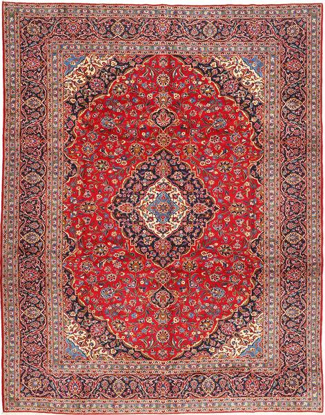 Keshan Matto 303X388 Itämainen Käsinsolmittu Ruoste/Ruskea Isot (Villa, Persia/Iran)