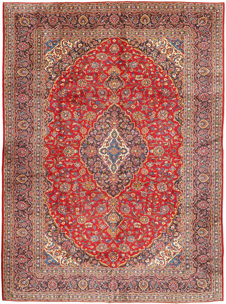 Keshan Matto 290X400 Itämainen Käsinsolmittu Ruskea/Tummanpunainen Isot (Villa, Persia/Iran)