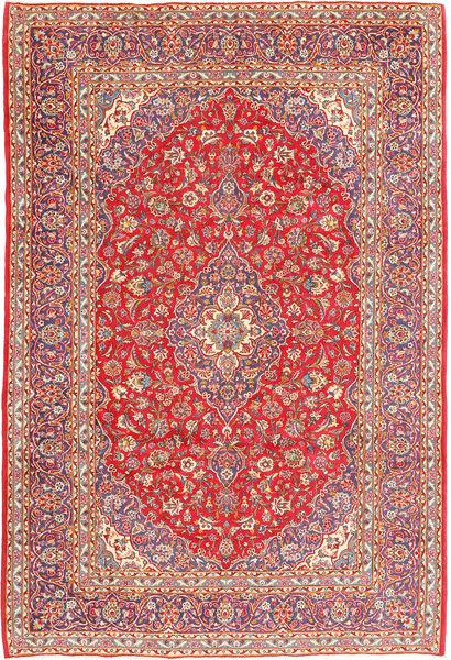 Keshan Matta 247X365 Äkta Orientalisk Handknuten Roströd/Rosa (Ull, Persien/Iran)