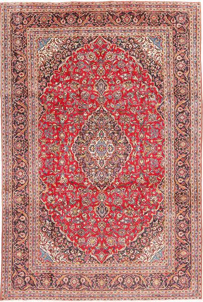 Keshan Matta 241X368 Äkta Orientalisk Handknuten Roströd/Brun (Ull, Persien/Iran)