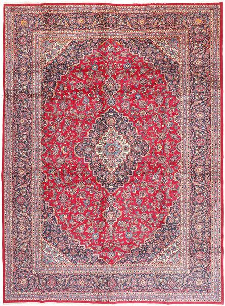 Keshan Signerad : Khali Matta 292X402 Äkta Orientalisk Handknuten Roströd/Rosa Stor (Ull, Persien/Iran)