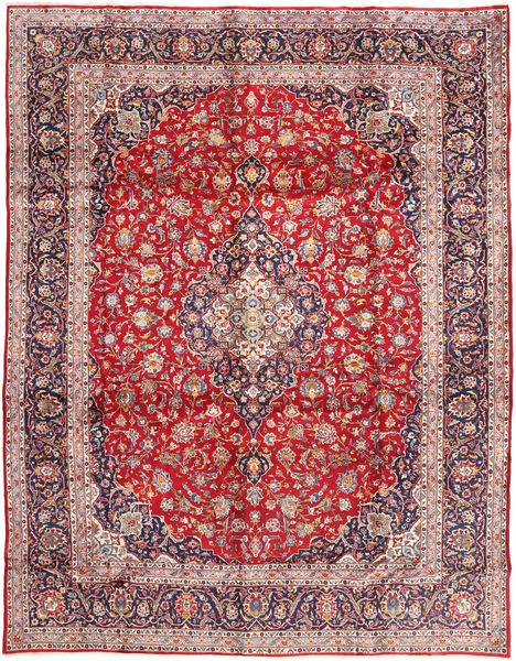 Keshan Matto 303X390 Itämainen Käsinsolmittu Vaaleanvioletti/Vaaleanruskea Isot (Villa, Persia/Iran)