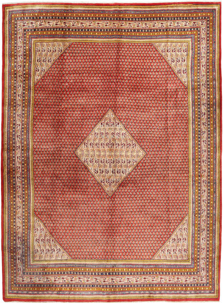 Sarouk Mir Rug 291X393 Authentic  Oriental Handknotted Dark Red/Rust Red Large (Wool, Persia/Iran)