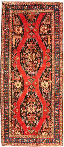 Ardebil Teppe 132X294 Ekte Orientalsk Håndknyttet Teppeløpere Orange/Mørk Grå (Ull, Persia/Iran)
