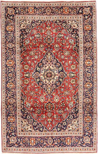 Keshan Matto 195X305 Itämainen Käsinsolmittu Tummanvioletti/Ruskea (Villa, Persia/Iran)